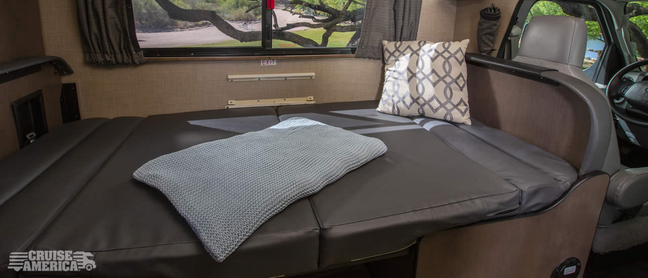 Compact RV Rental Interior Image